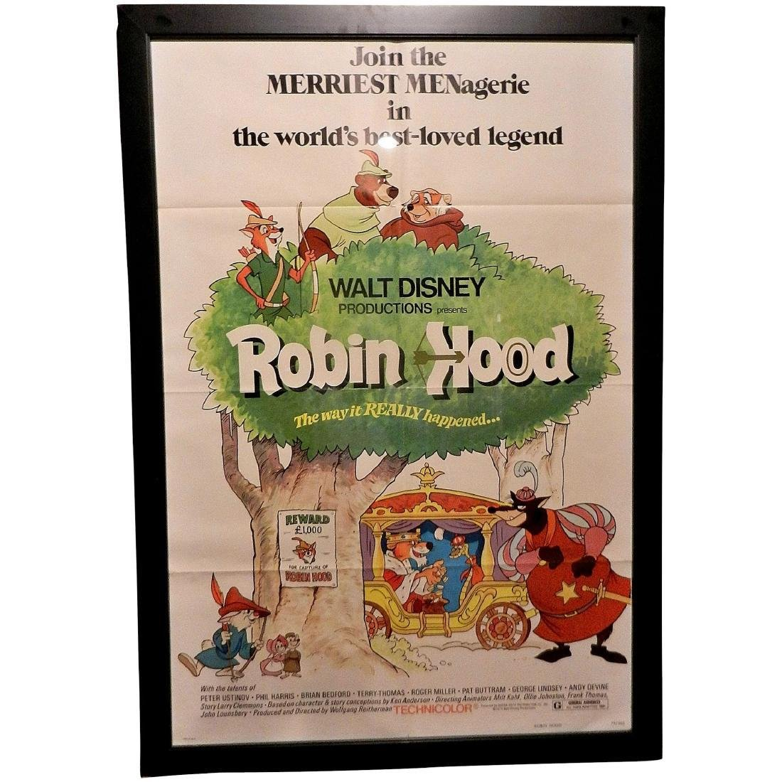 Walt Disney Robin Hood Movie Poster One Sheet 1970