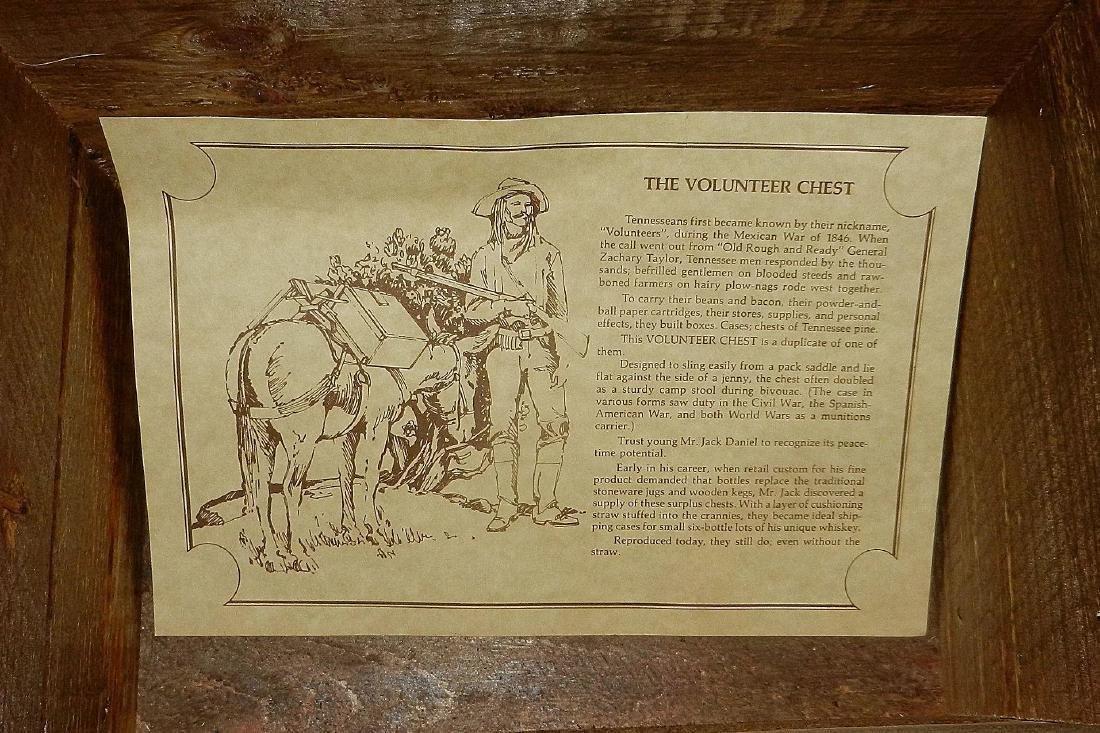 Jack Daniel's Old No. 7 Wood Bottle Whiskey Transport - 8