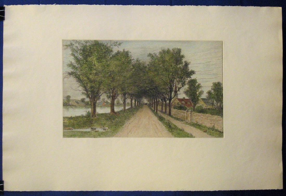 Antique Print Tree Lined Road