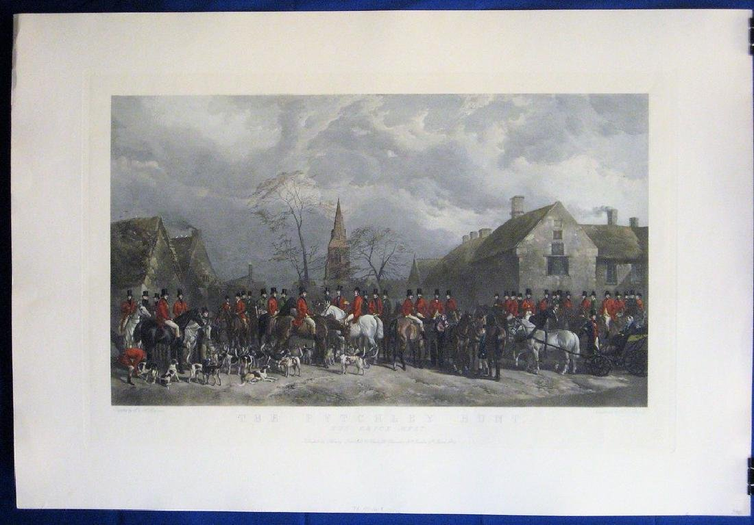 Antique Print The Pytchley Hunt