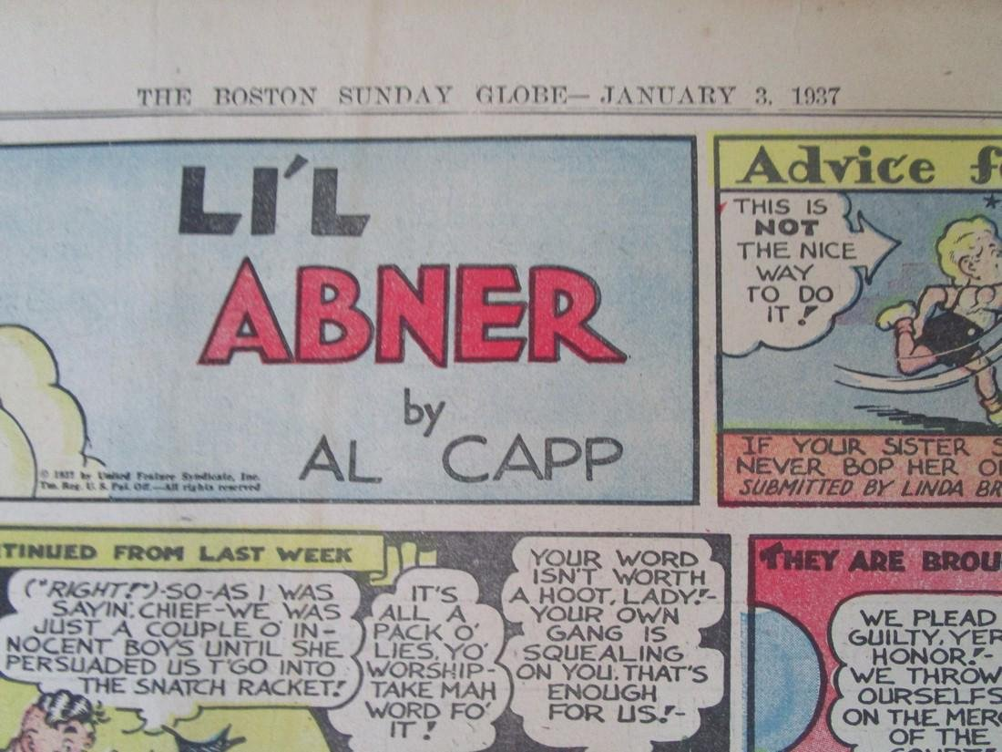 Lil Abner Comic Strip Jan3, 1937 - 2
