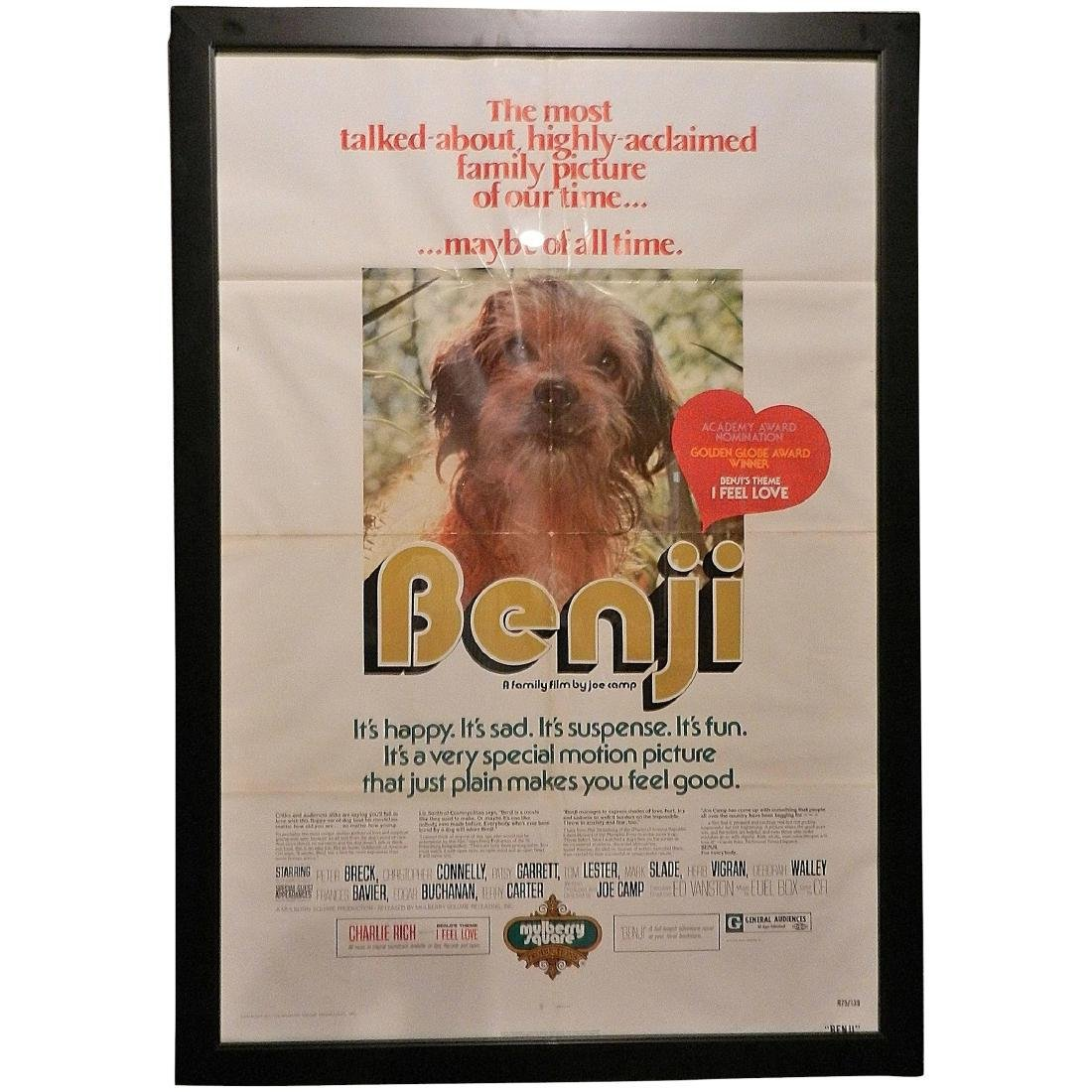 Benji 1975 Original One Sheet Movie Poster
