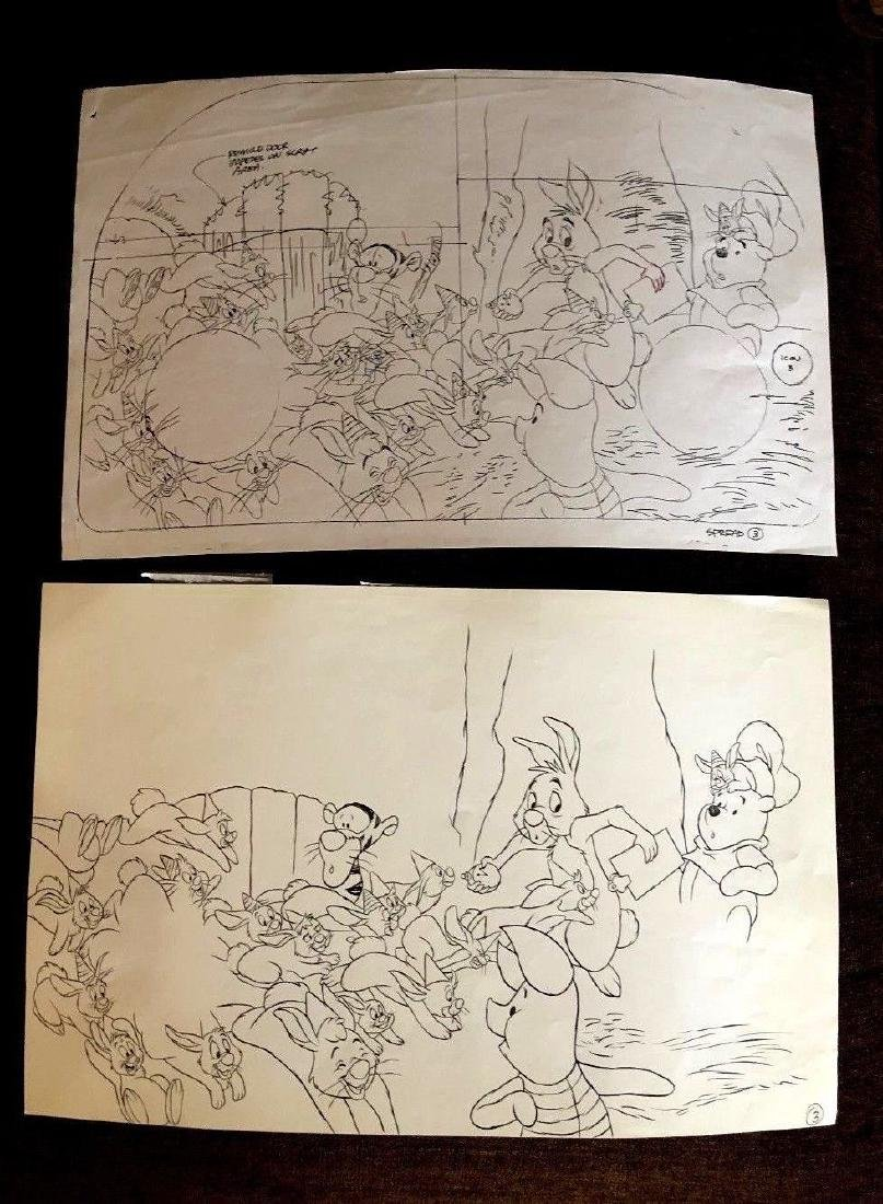 Disney Vintage Original Ink Drawing Winnie the Pooh