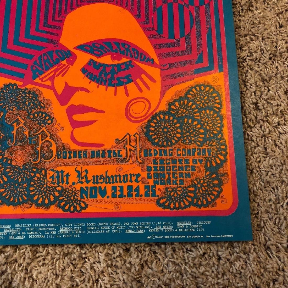 1967 Big Brother Janis Joplin Family Dog Avalon - 3