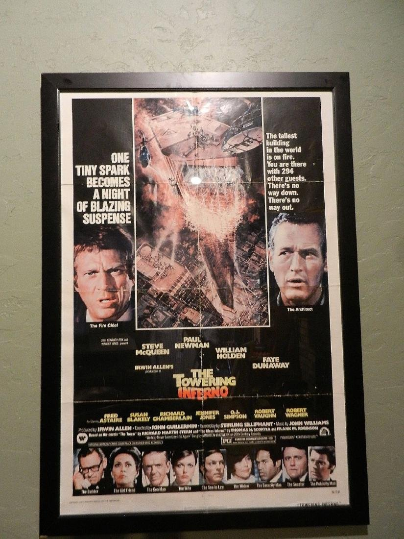 Towering Inferno Movie Poster 1974 - 2