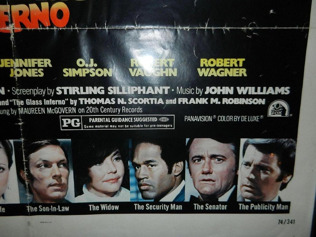 Towering Inferno Movie Poster 1974 - 4