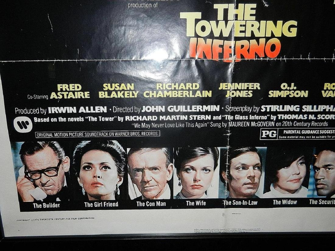 Towering Inferno Movie Poster 1974 - 5