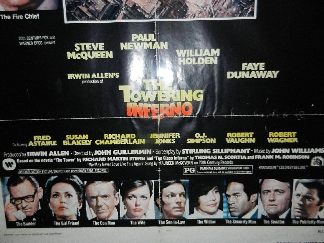 Towering Inferno Movie Poster 1974 - 6