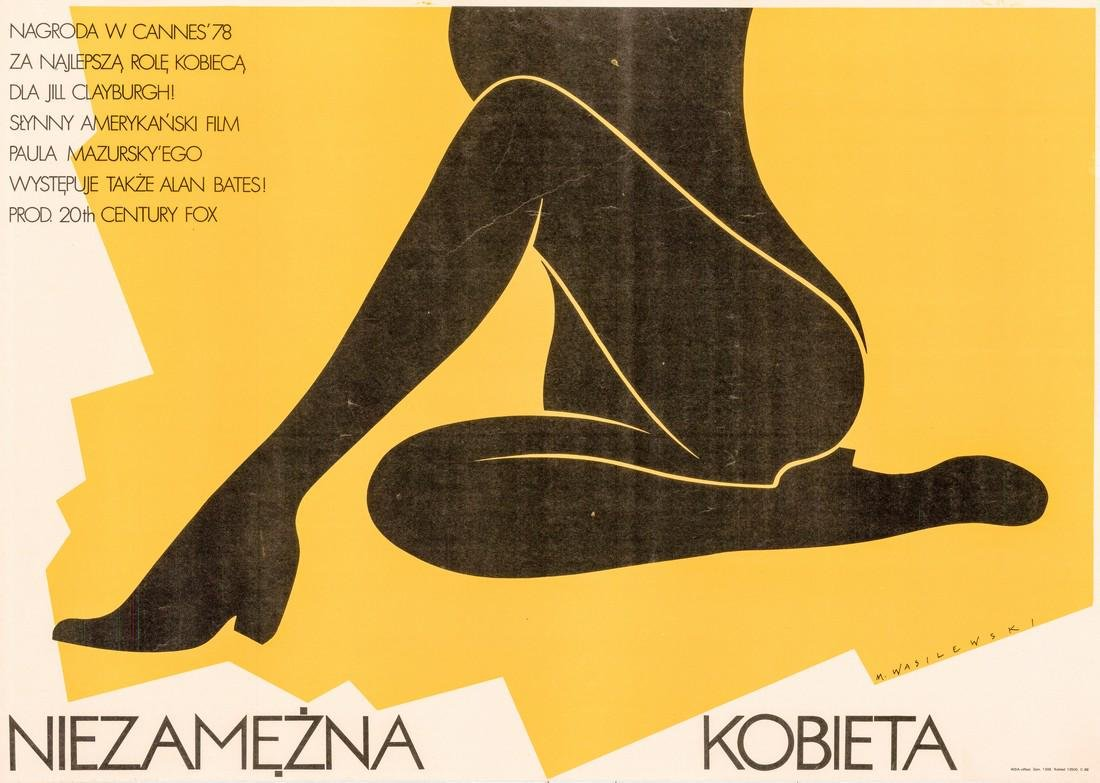 An Unmarried Woman 1978 Polish Poster