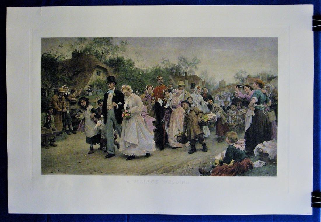 Antique Print A Village Wedding