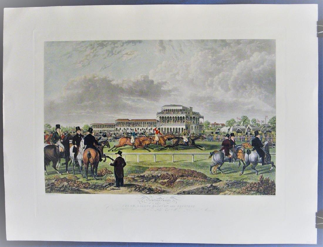 Antique Print Newton Races