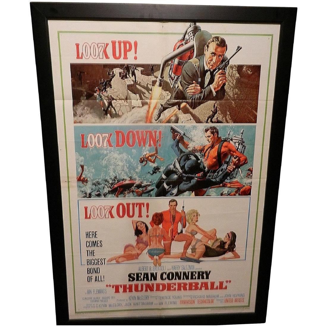 Thunderball- James Bond Movie Poster One Sheet 1965