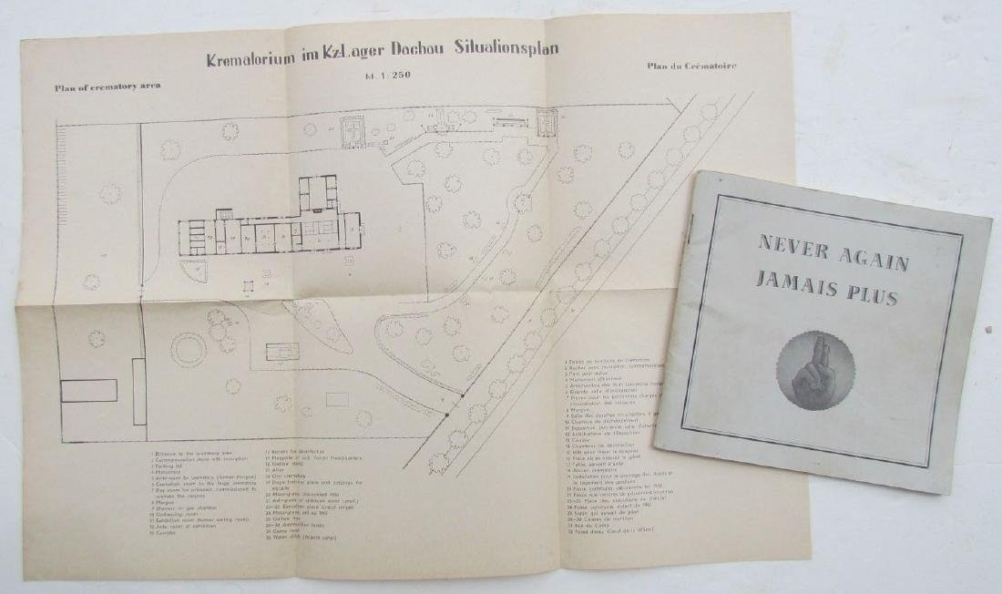 Never Again Vintage 1950 Illustrated Booklet on Dachau