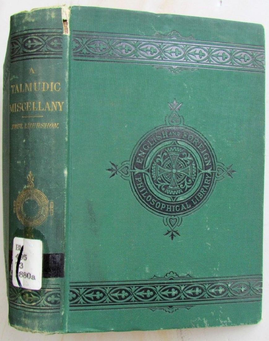 Talmudic Miscellany Kabbalah Antique 1880 Judaica