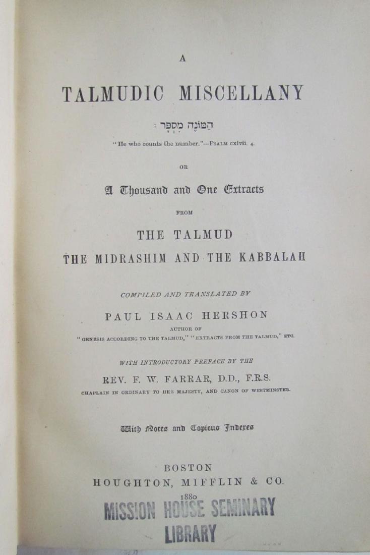 Talmudic Miscellany Kabbalah Antique 1880 Judaica - 2