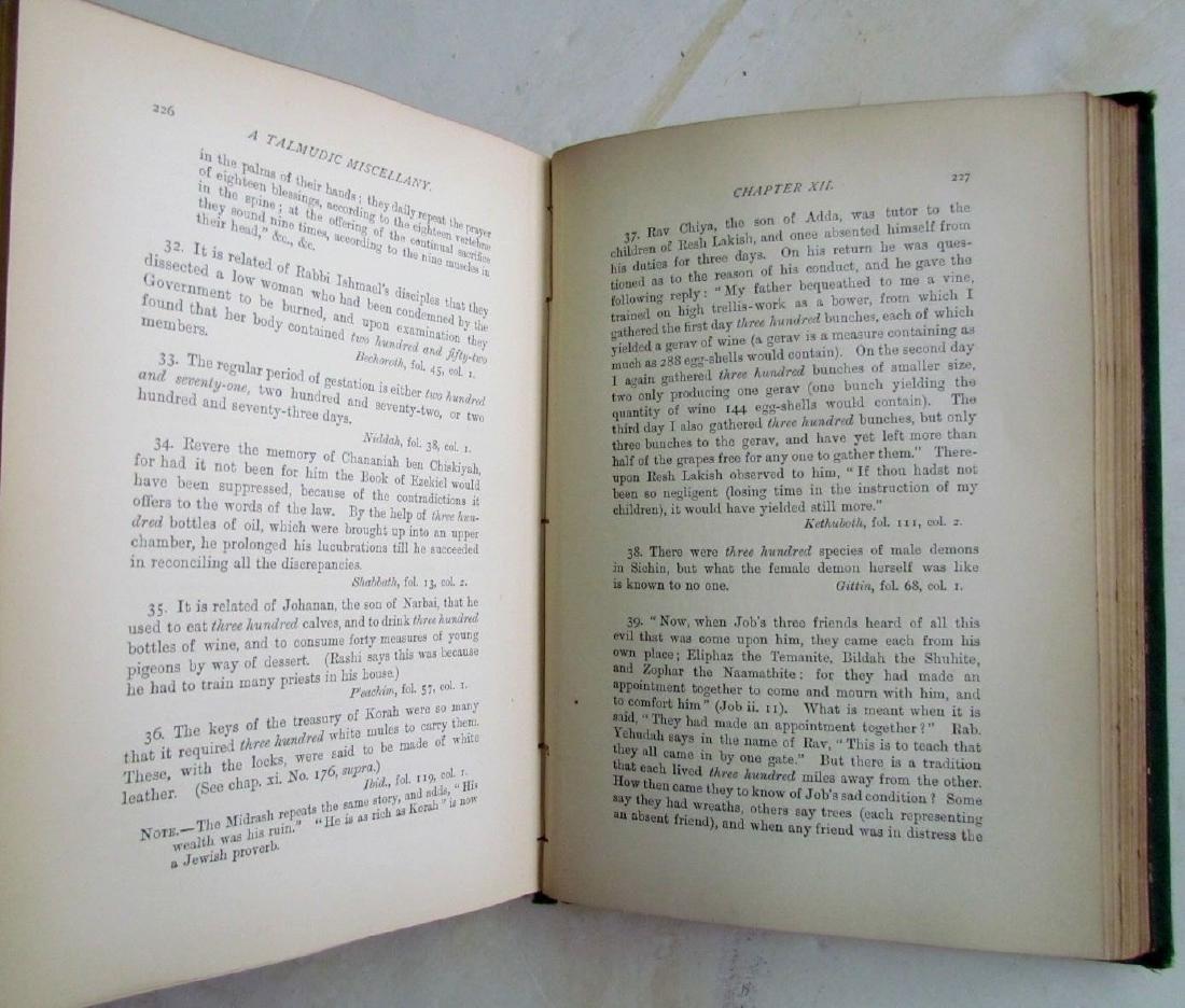 Talmudic Miscellany Kabbalah Antique 1880 Judaica - 3