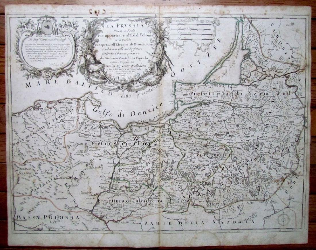 1689 Antique Map of Prussia Giovanni Giacomo De Rossi's
