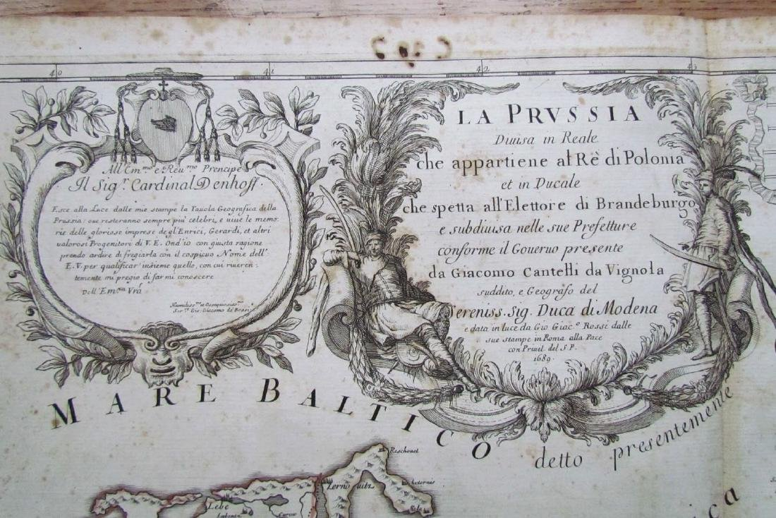 1689 Antique Map of Prussia Giovanni Giacomo De Rossi's - 2