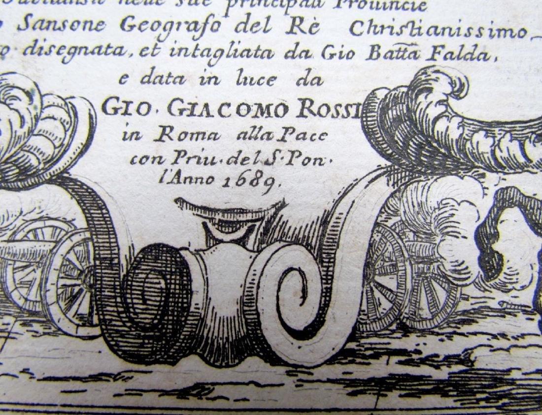 1689 Antique Map of Scandinavia Giovanni De Rossi's - 3