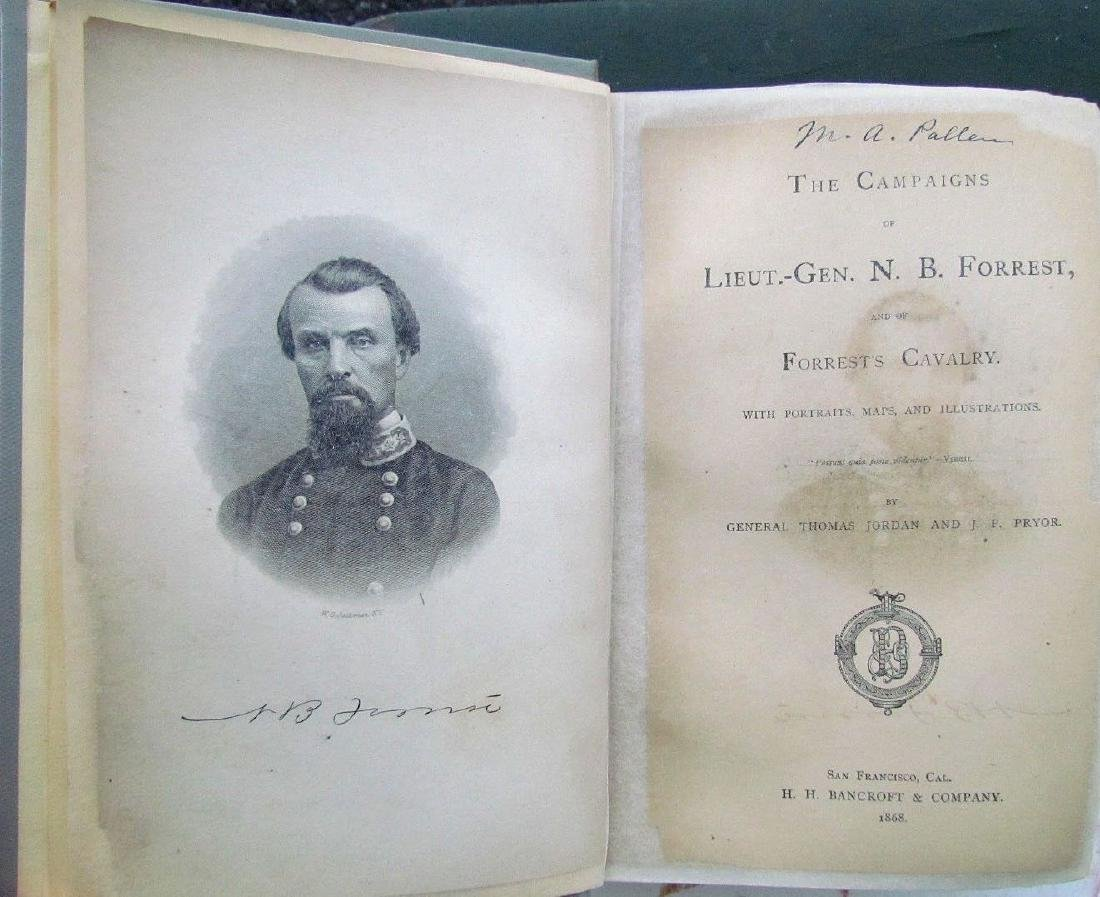 1868 Civil War Theme Campaigns Lieut.-gen. N.b.forrest