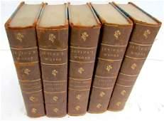 5 Volumes Antique Washington Irving's Works Leather