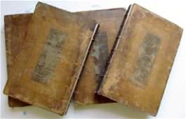 1722-24 4 Vols Antique Illustrated Folios Antiquities