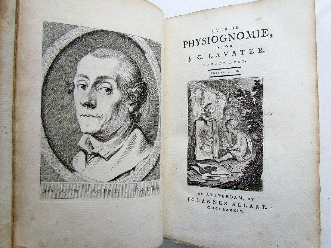 1780s 4 Volumes Antique Books on Physiognomy - 11