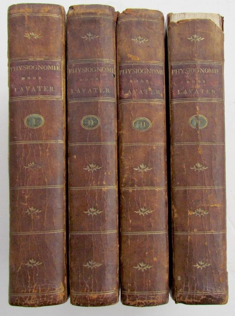 1780s 4 Volumes Antique Books on Physiognomy
