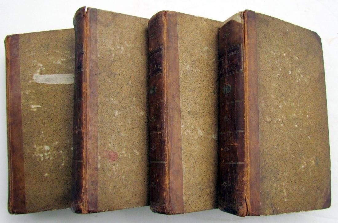 1780s 4 Volumes Antique Books on Physiognomy - 2