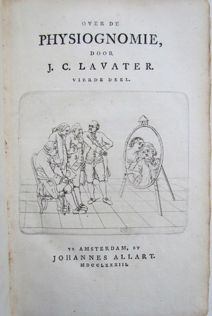 1780s 4 Volumes Antique Books on Physiognomy - 3