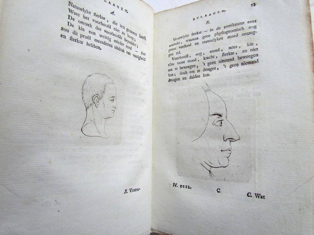 1780s 4 Volumes Antique Books on Physiognomy - 4