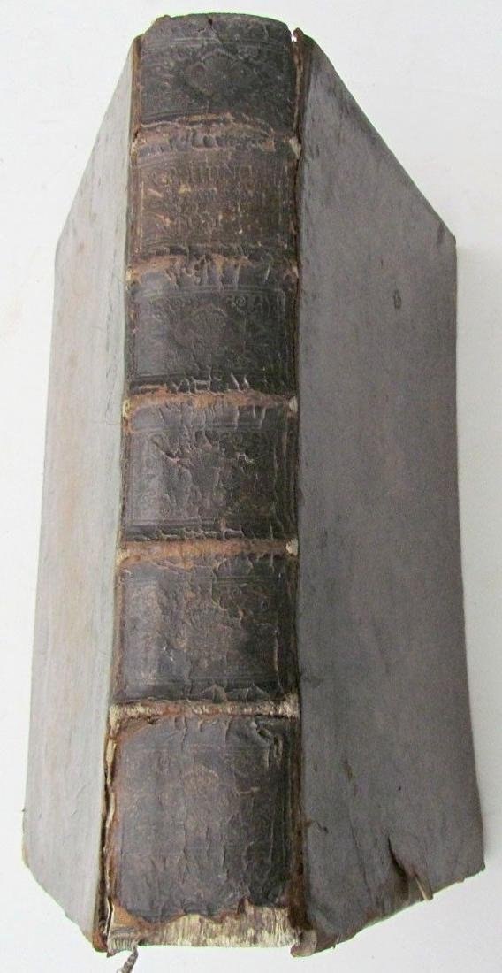 1740 Antique Leather Bound Folio by Francisco Hunolt