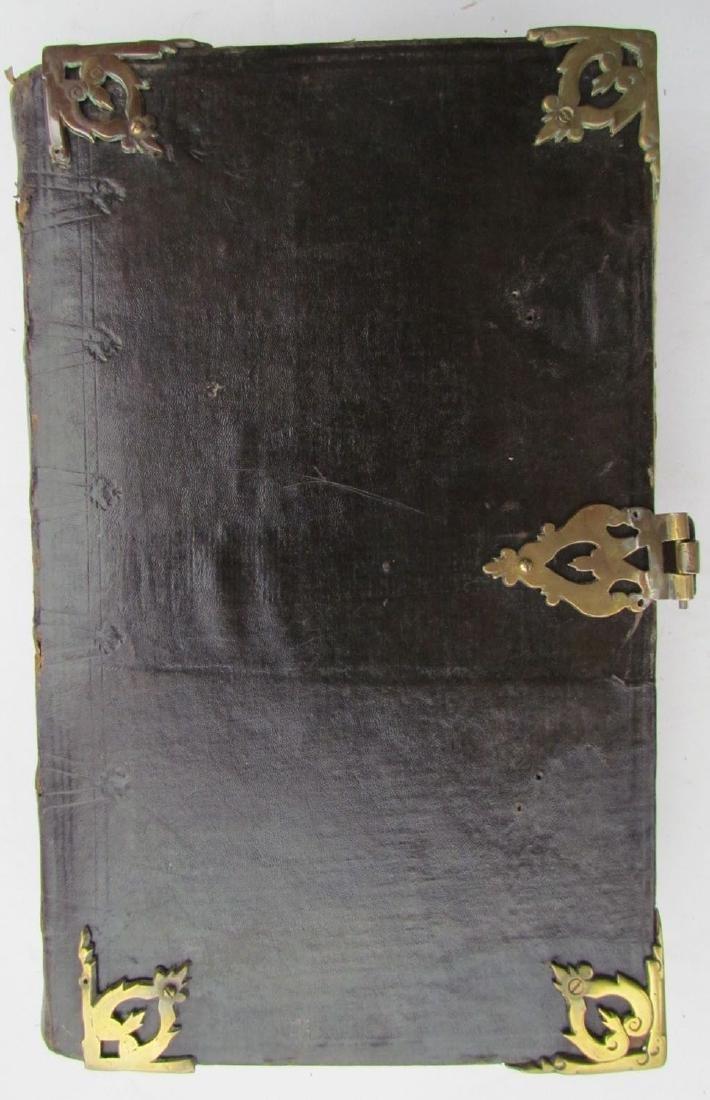 1725 Antique Leather Bound Folio Missale Romanum