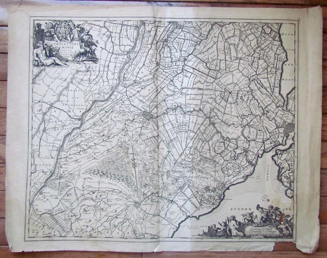 1680s Antique Map of Netherlands by Frederik De Witt