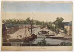 Antique 18th C Vue De La Coupur Gand French Engraving