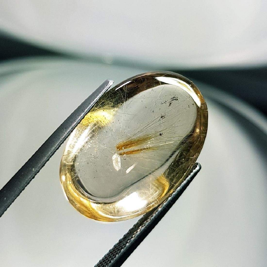 Golden Rutile Quartz - 16.16 ct - 3