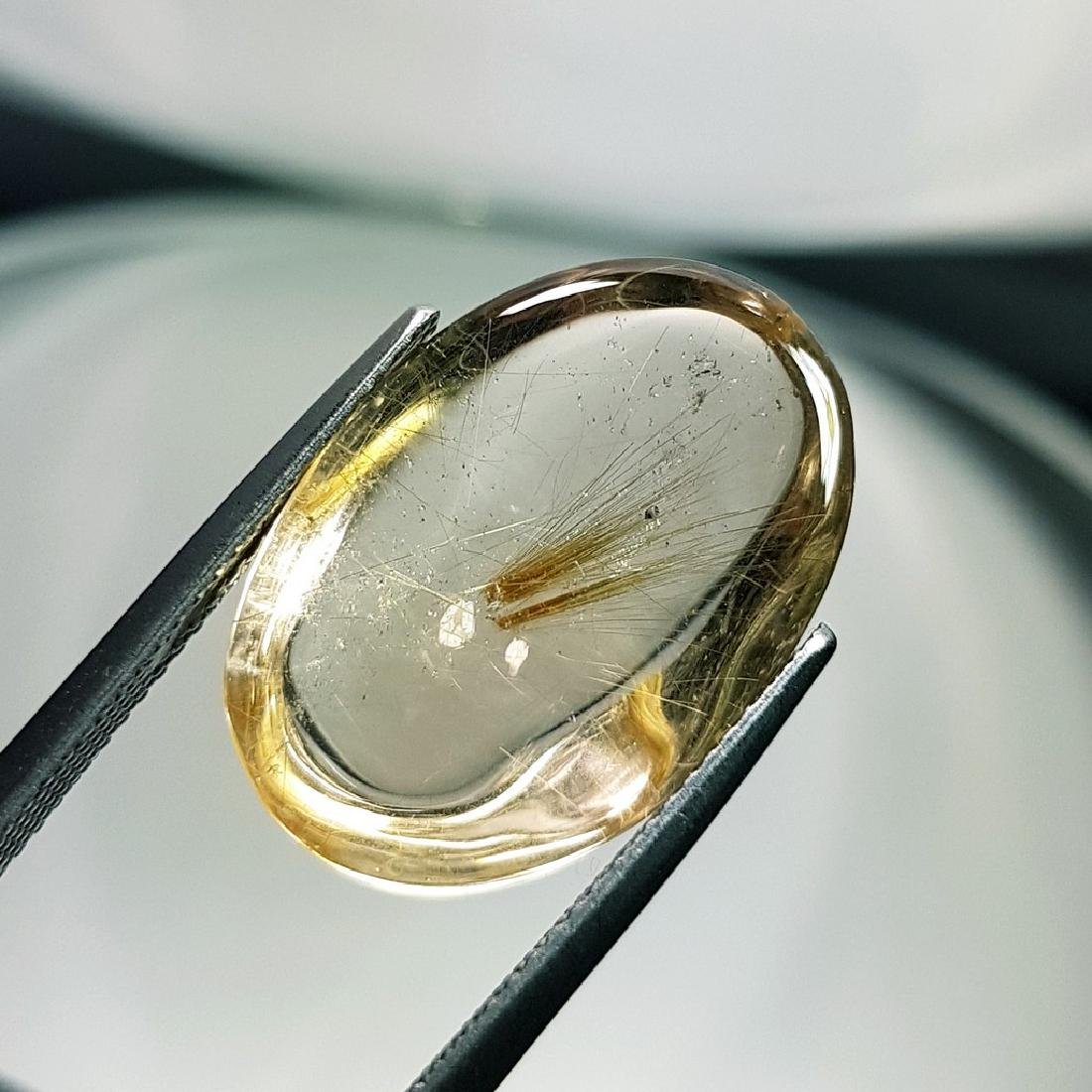 Golden Rutile Quartz - 16.16 ct - 4