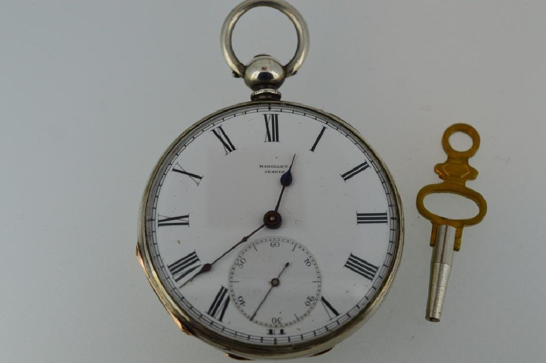 Badollet Geneve Sterling Silver Pocketwatch