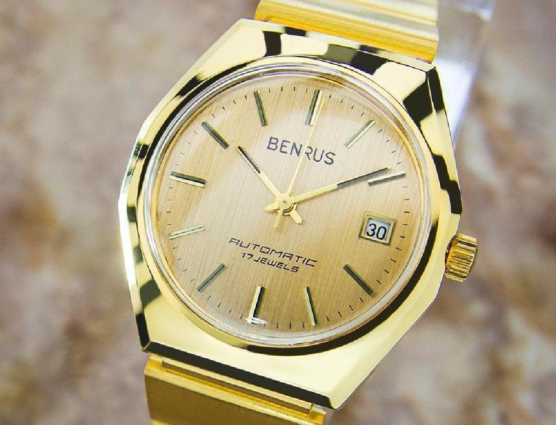 Swiss Made Benrus Luxury Automatic Gold Plated Watch