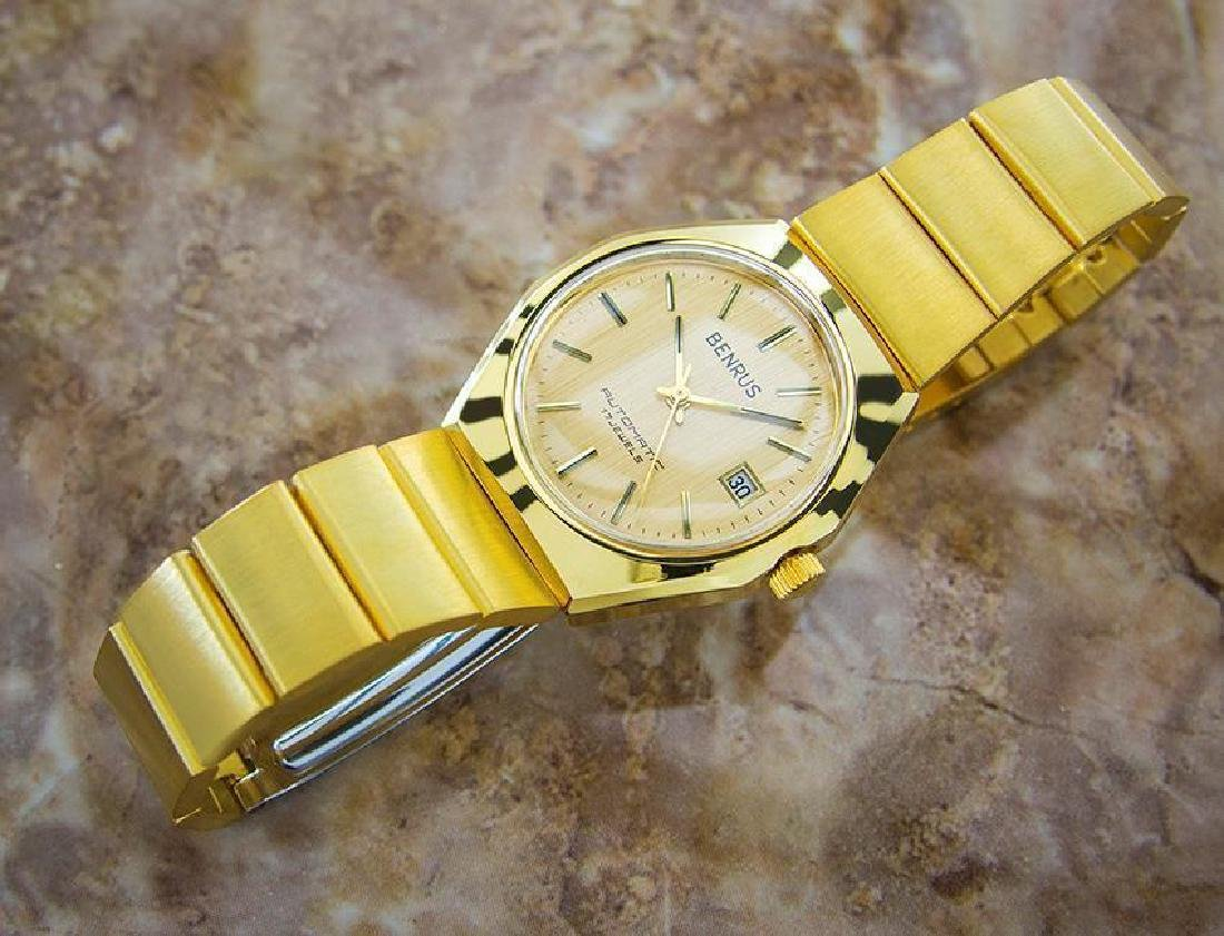 Swiss Made Benrus Luxury Automatic Gold Plated Watch - 5