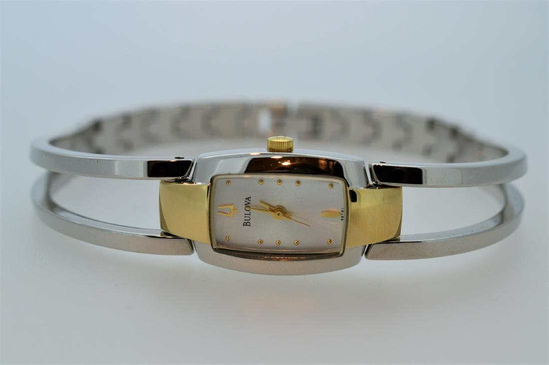 Ladies Bulova Contemporary Two-tone Watch Bracelet