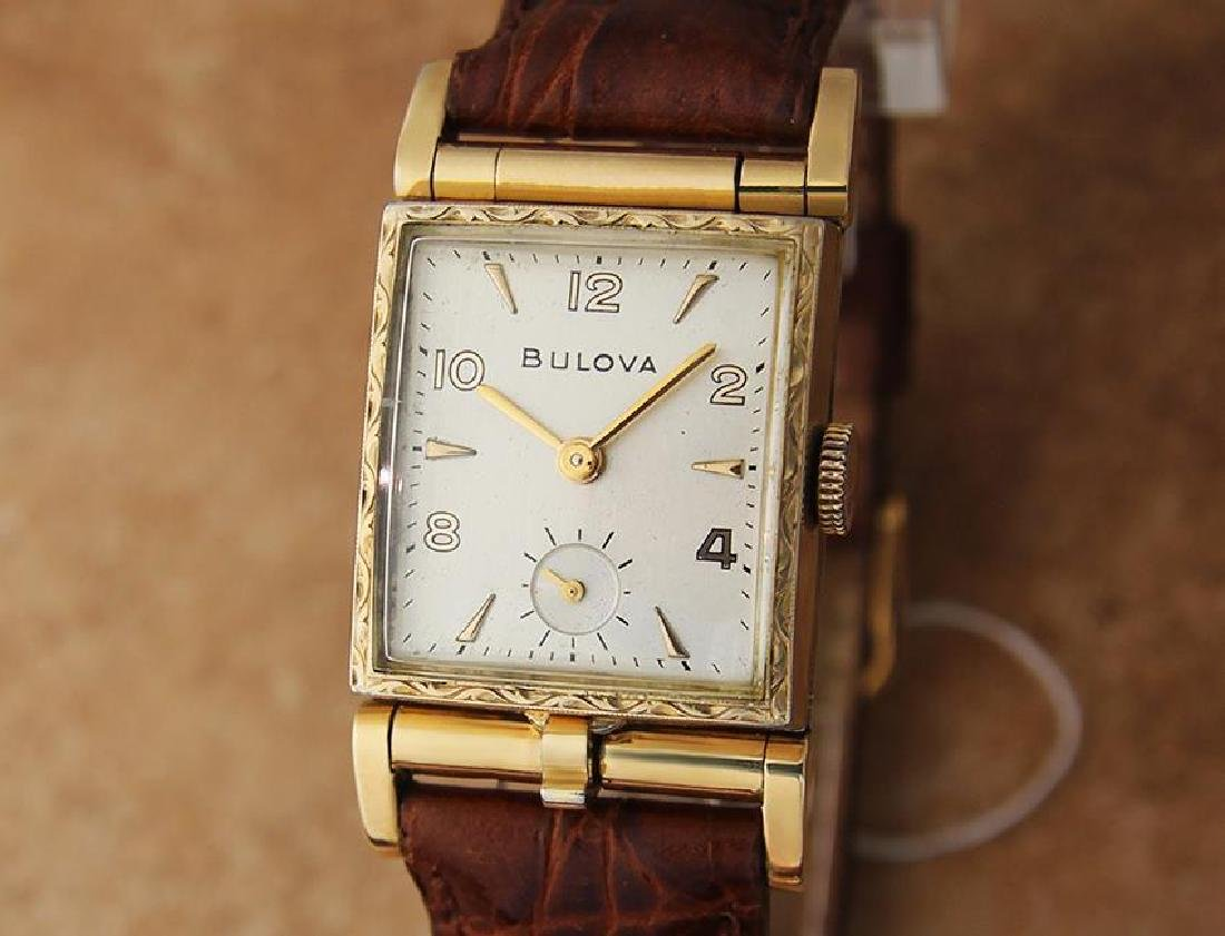 Bulova 1940s Rare Swiss Made Men's Yellow Gold Plated