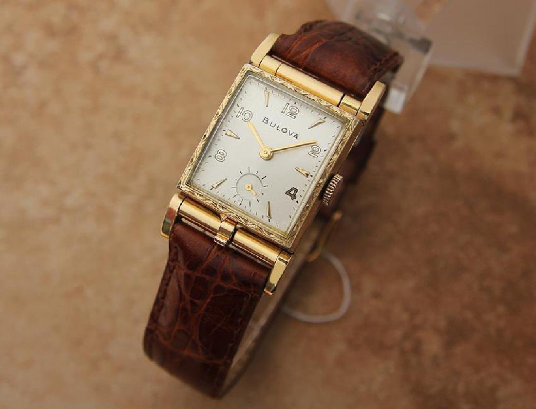 Bulova 1940s Rare Swiss Made Men's Yellow Gold Plated - 2