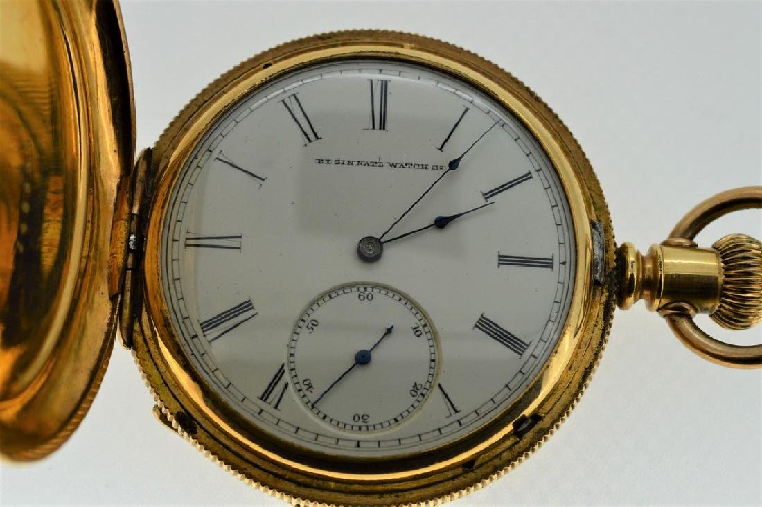 Elgin 14k Gold Plated Pocket Watch