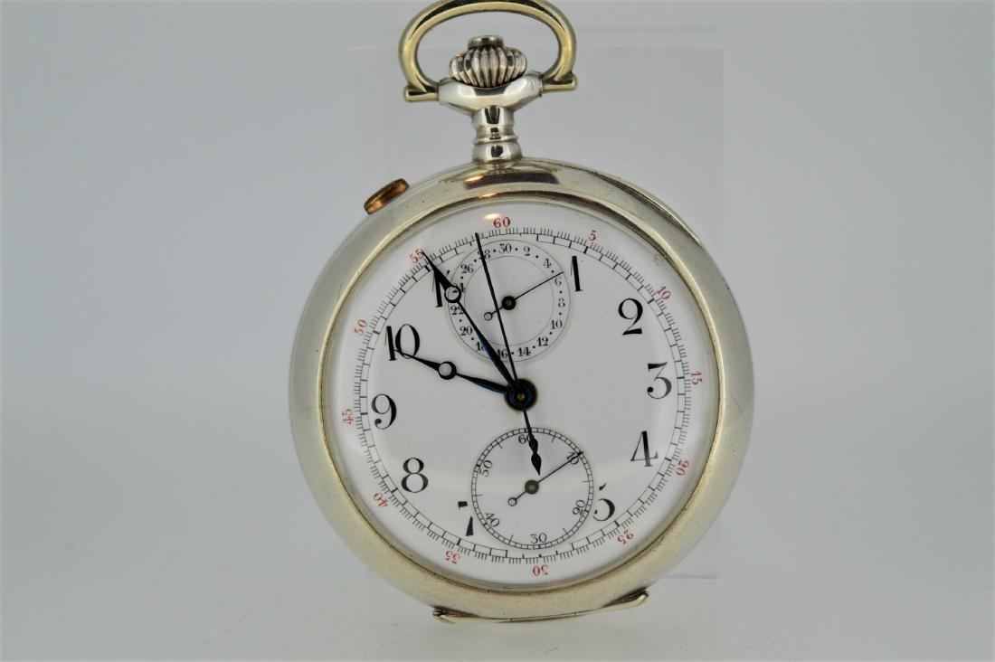 English Sterling Silver Split Chronograph