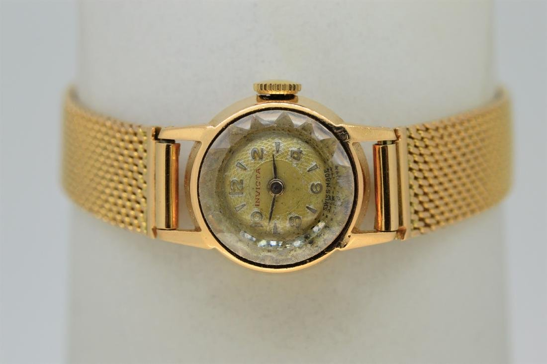 Ladies 18k Yellow Gold Invicta Watch