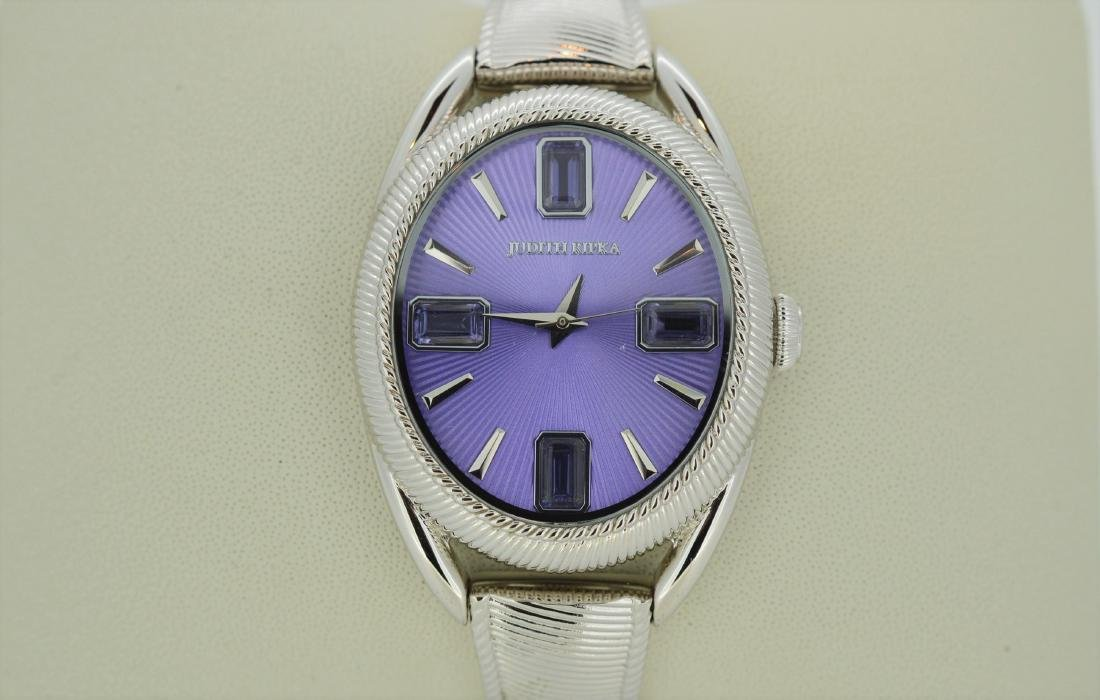 Judith Ripka Ladies Wristwatch with Purple Face