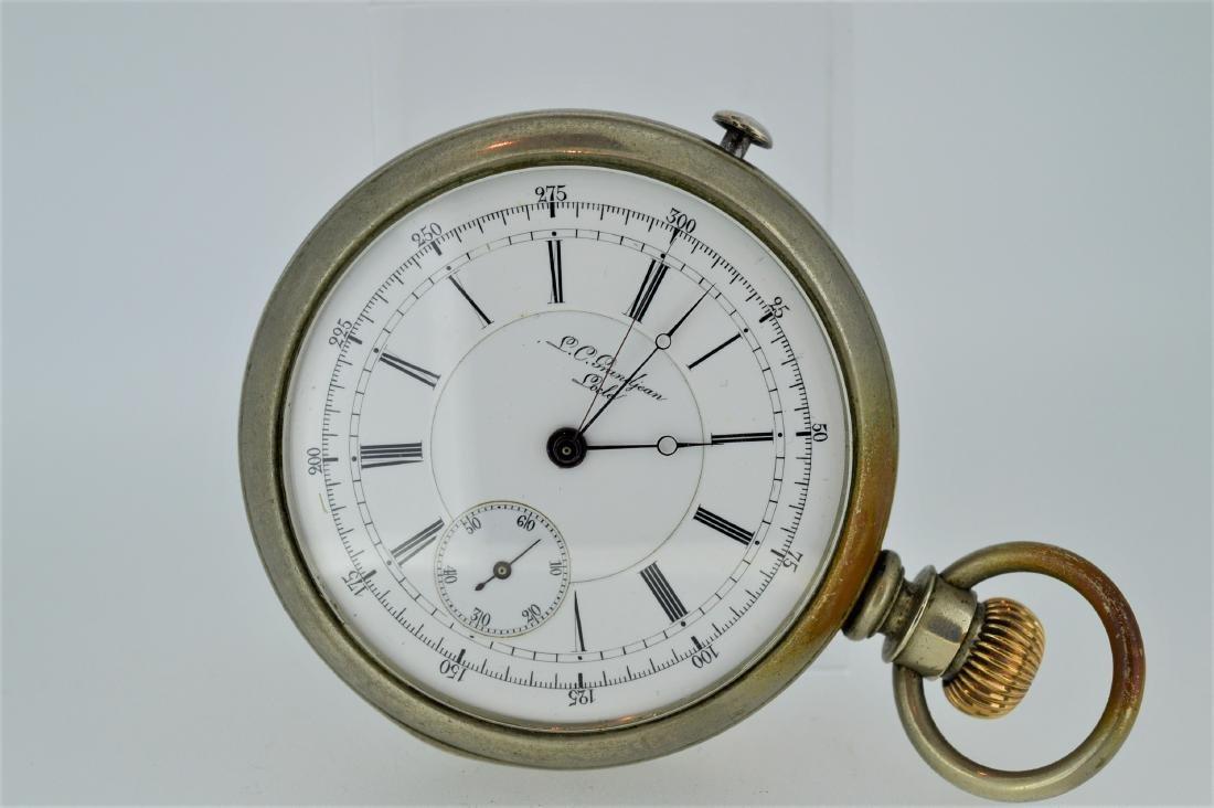 L.C. Grandjean Locle Nickel Stopwatch with Display Back