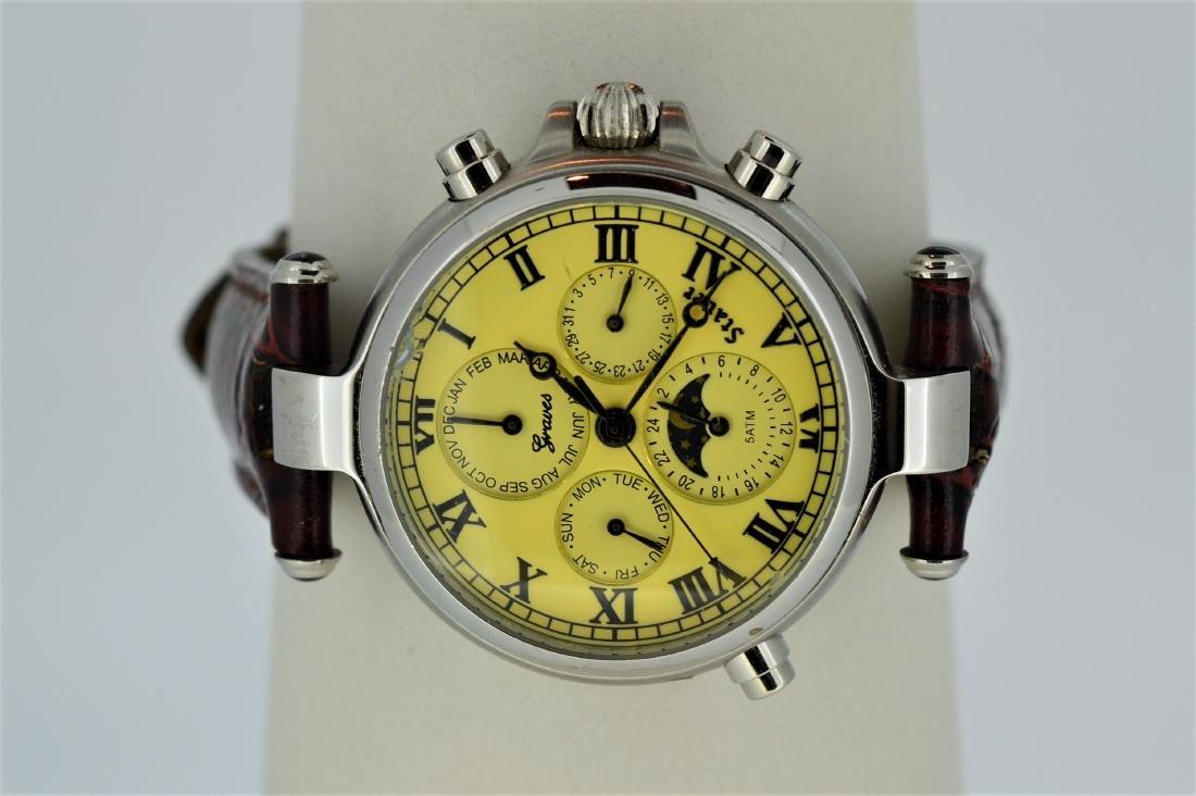 Men's Stauer 39mm Finish Graves 33 Wristwatch