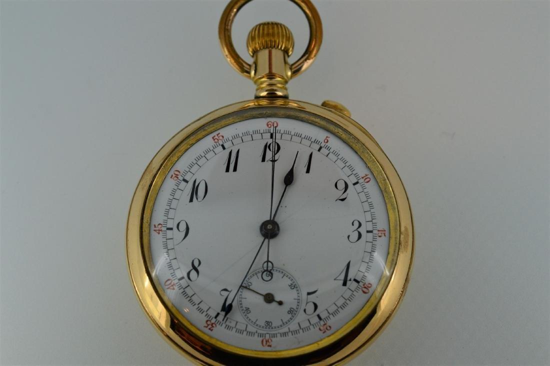 Unmarked Lever-Set Split Chronograph Pocketwatch